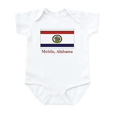 Mobile AL Flag Infant Bodysuit