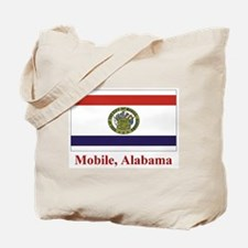 Mobile AL Flag Tote Bag