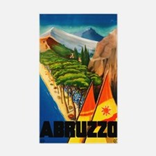 Abruzzo Italy - Vintage Travel Decal