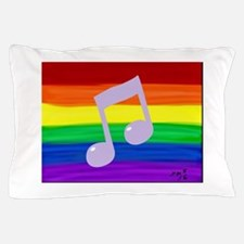 Gay music note art rainbow Pillow Case