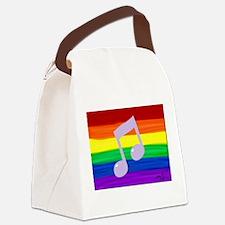 Gay music note art rainbow Canvas Lunch Bag