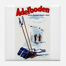 Vintage Adelboden Switzerland Travel Tile Coaster
