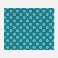 Cute Polka dot blue Throw Blanket