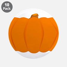 """Juicy Pumpkin 3.5"""" Button (10 pack)"""