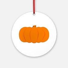 Juicy Pumpkin Round Ornament