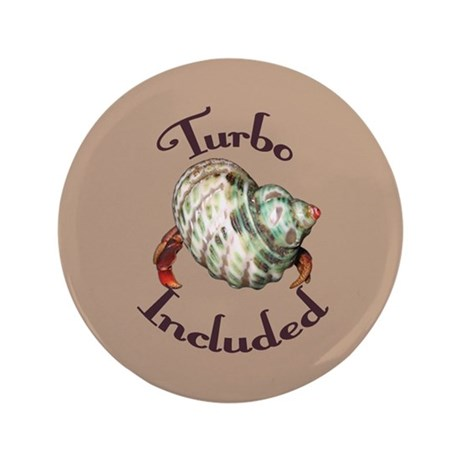 """Turbo Included 3.5"""" Button"""
