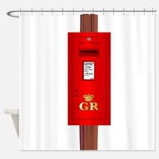 Post Mounted Post Box. Shower Curtain