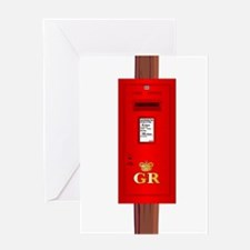 Post Mounted Post Box. Greeting Cards