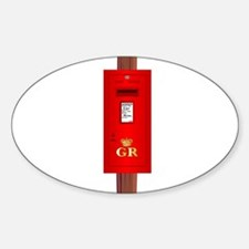 Post Mounted Post Box. Decal