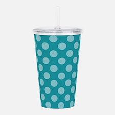 Unique Blue polka dot Acrylic Double-wall Tumbler