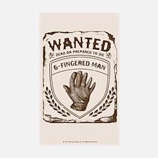 Six Fingered Man Princess Brid Sticker (rectangle)