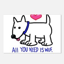 All you Need Is Wuf love Postcards (Package of 8)