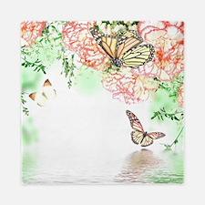 Butterfly Flowers Queen Duvet