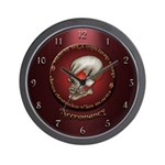 Necromancy Wall Clock (Red)