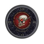 Necromancy Marble Inlay Wall Clock
