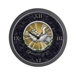 Thaumaturgy Marble Inlay Wall Clock