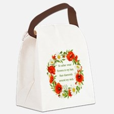 I'D RATHER WEAR... Canvas Lunch Bag