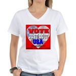 Vote Just Do It USA Women's V-Neck T-Shirt