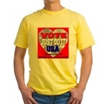 Vote Just Do It USA Yellow T-Shirt