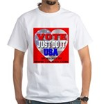 Vote Just Do It USA White T-Shirt
