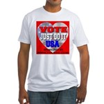 Vote Just Do It USA Fitted T-Shirt