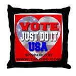 Vote Just Do It USA Throw Pillow