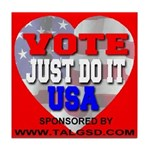 Vote Just Do It USA Tile Coaster