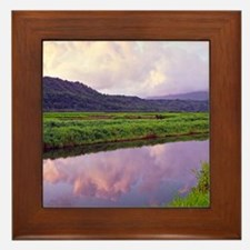 Hanalei Dawn Kauai Framed Tile
