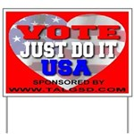 Vote Just Do It USA Yard Sign