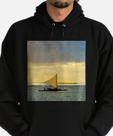 Tropical Sunset Sail and Surf Hoodie (dark)