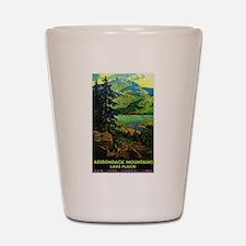 Adirondack Mountains Lake Placid N.Y. Shot Glass
