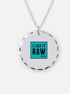 Raw (Vegan) Necklace Circle Charm