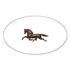 Trot Oval Decal