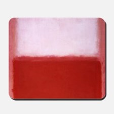 ROTHKO RED AND WHITE-BLEEDING HEART Mousepad