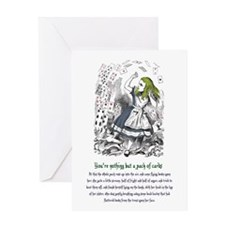 Alice's Evidence Greeting Card