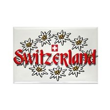 Swiss Edelweiss Rectangle Magnet
