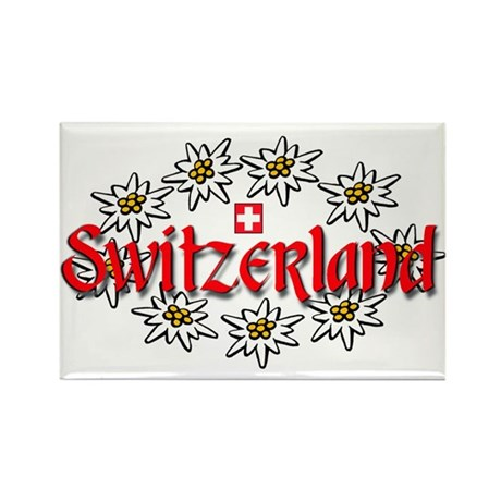 Swiss Edelweiss Rectangle Magnet (10 pack)