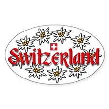Swiss Edelweiss Oval Decal