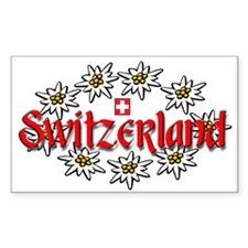 Swiss Edelweiss Rectangle Decal