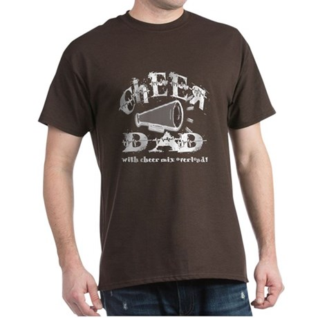 Cheer Dad with Cheer Mix Over Dark T-Shirt