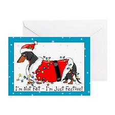 Fat Weiner Dog Santa Christmas Cards (10)