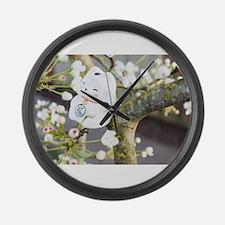 Neko Blossoms Large Wall Clock