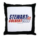 Stewart / Colbert 2008 - Throw Pillow