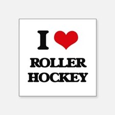 I Love Roller Hockey Sticker