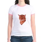 Bengal Tabby Cat Jr. Ringer T-Shirt