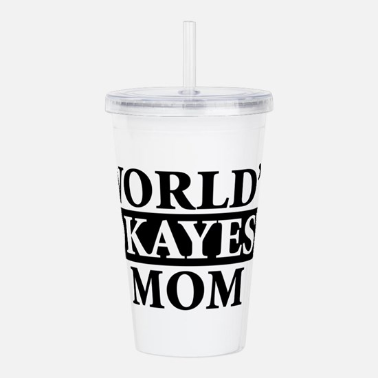 Cute World%2527s okayest mom Acrylic Double-wall Tumbler
