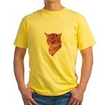 Bengal Tabby Cat Yellow T-Shirt