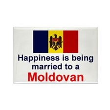Moldovan-Married Rectangle Magnet