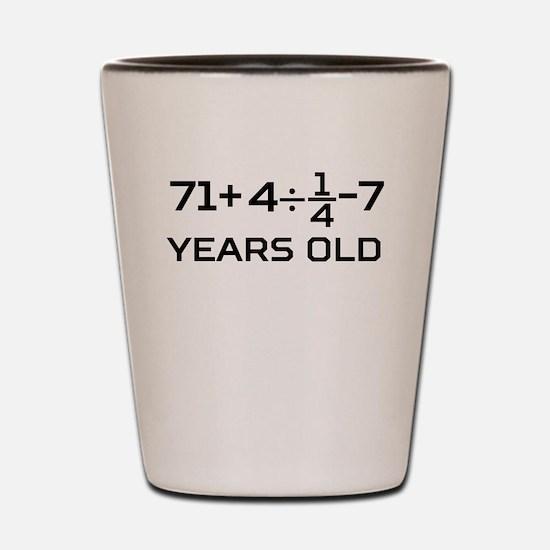 80th Birthday Algebra Equation Shot Glass