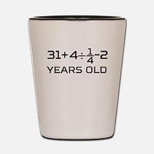 45th Birthday Algebra Equation Shot Glass